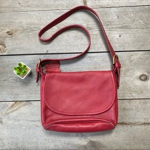 Vintage Coach Red Leather
